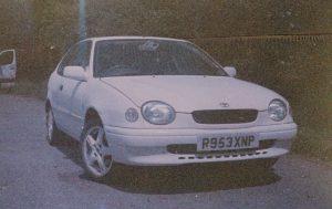 Paddy, my 1998 Toyota Corolla E11