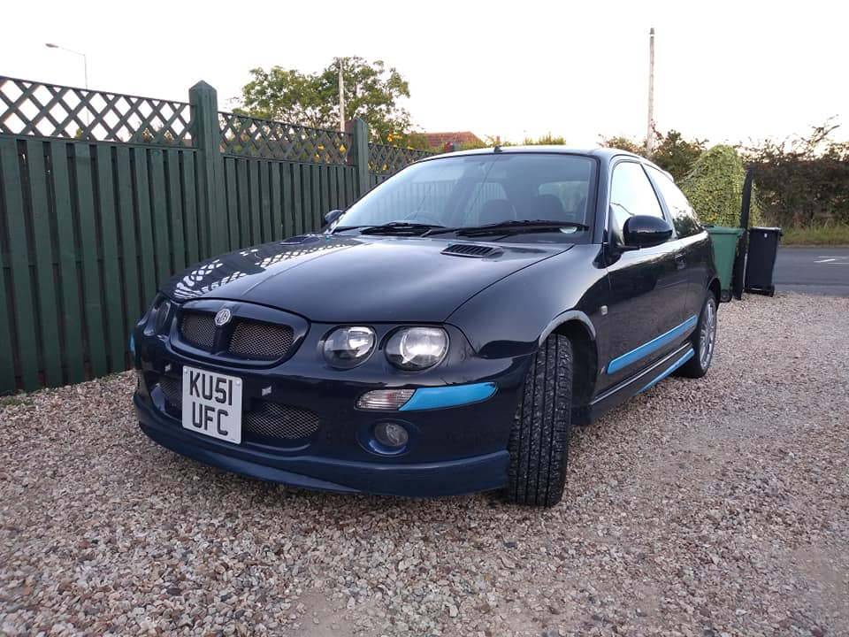 The Rover 25, dressed up as an MG ZR