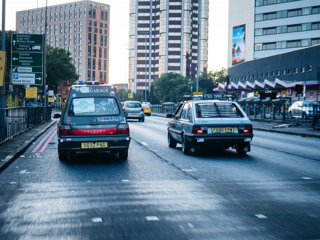 A pair of FSO Polonez's in Birmingham - Photo provided by Patryk Pat Druciarz Firlej