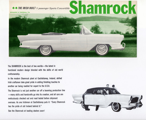 """The Irish Built 5 passenger Sports Convertible Shamrock"""