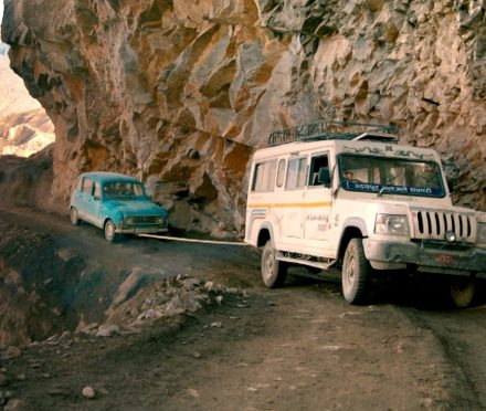 A cherished Renault 4 destroyed in Nepal
