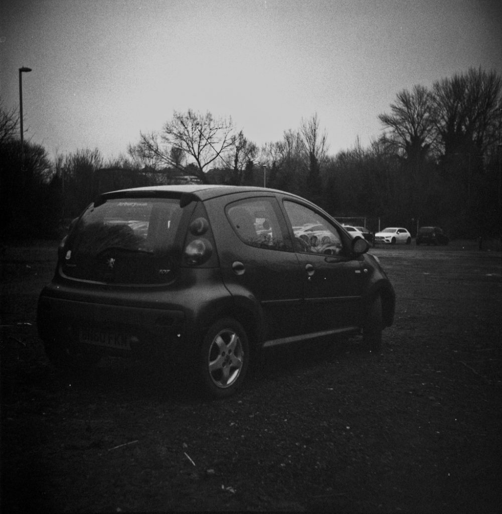 An arty photo of Rocky my Peugeot 107