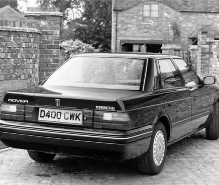 The Rover 820E, the first Rover 800 my Dad owned