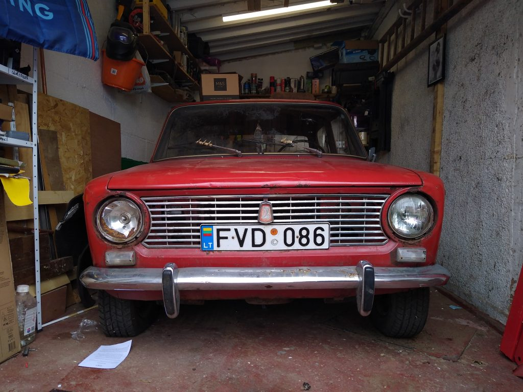 My Lada 2101 sitting inside my garage
