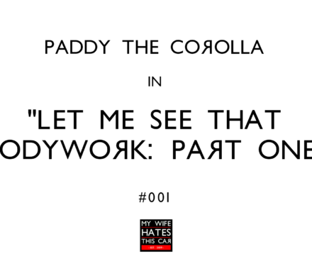 Paddy the 1998 Toyota Corolla E11 in Let Me See That Bodywork
