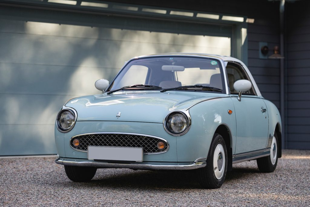 Classic car styling, and classic car rust proofing, done right with the Nissan Figaro!