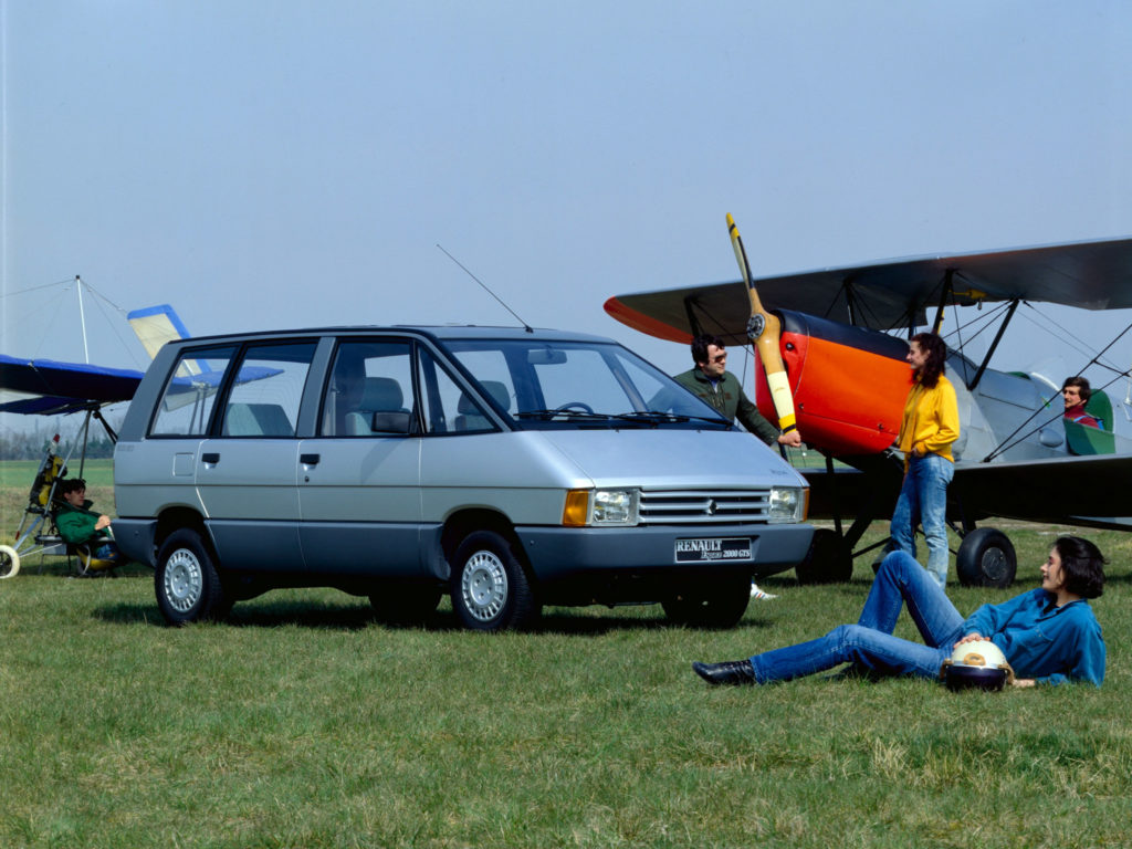 The original Renault Espace, released in 1984, designed initially by Fergus Pollock. The car, not the plane.