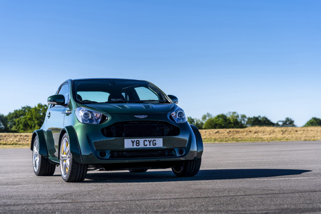 I'm sure the person who thought of putting a V8 engine in to an Aston Martin Cygnet had a huge hangover the morning after