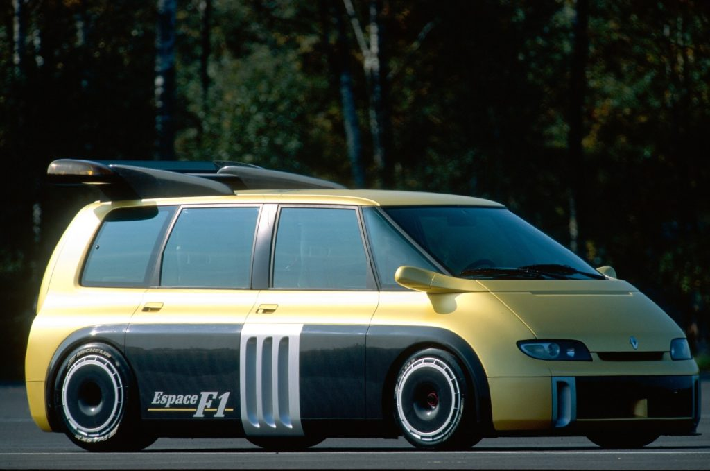 The Renault Espace F1 remains a glorious concept. School runs just aren't the same without it.