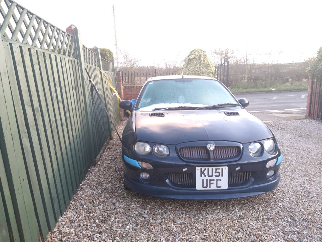 Conor the 2001 Rover 25/MG ZR still awaits it's destiny, giving it's engine and interior to Nikita the Lada.
