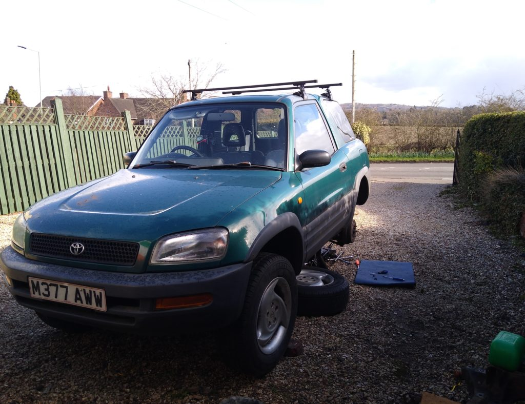 How my Toyota RAV4 has been parked since it failed it's MOT test on New Years Eve.